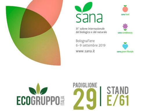 SANA 2019 – Ecogruppo Italia presente al 31 salone internazionale del Biologico